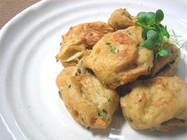 たらの芽と豆腐の揚げ団子