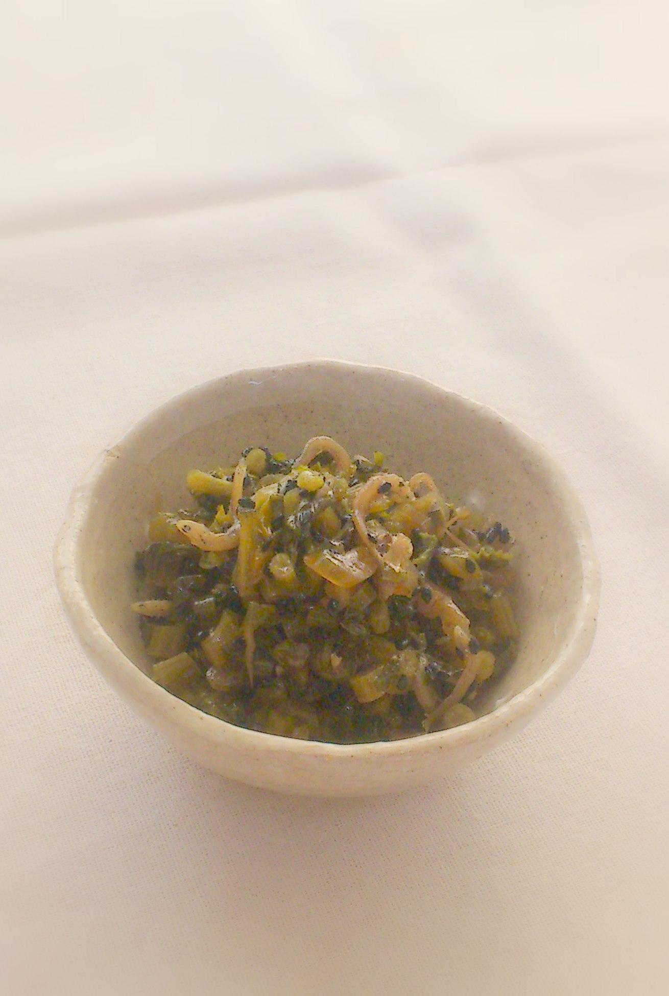 大根葉とチリメンジャコの炒め煮