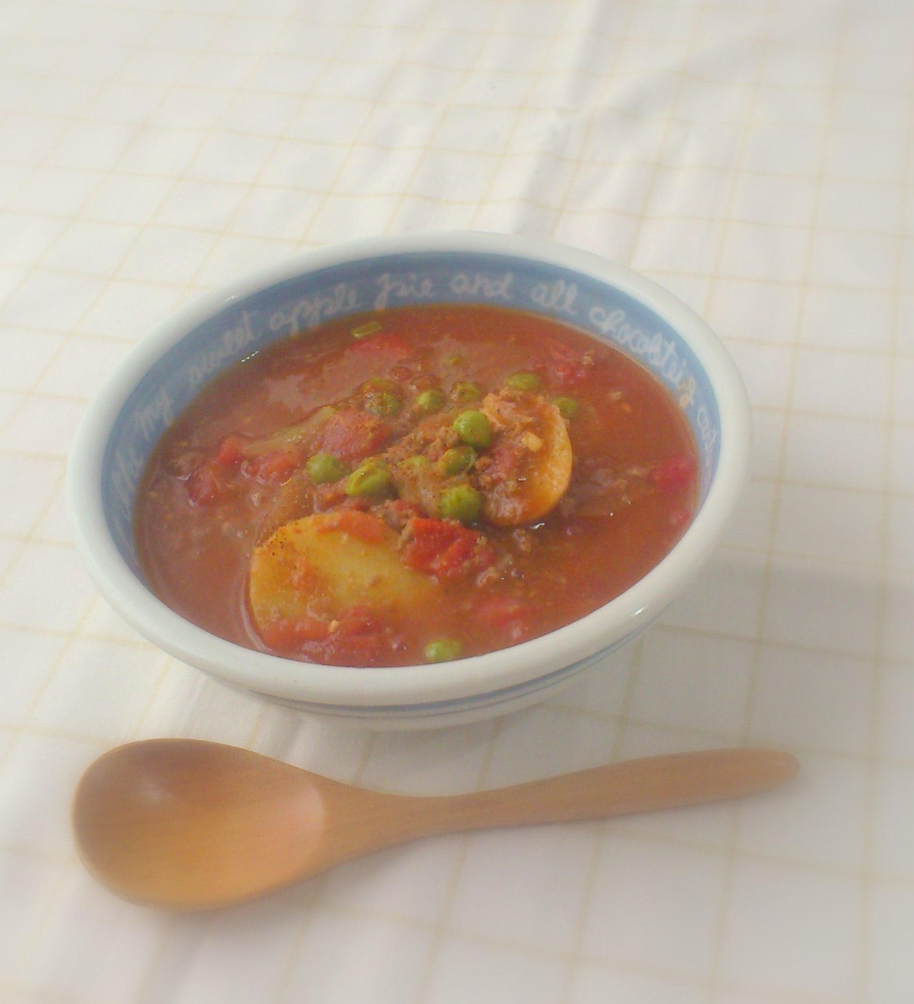 えんどう豆のカレースープ
