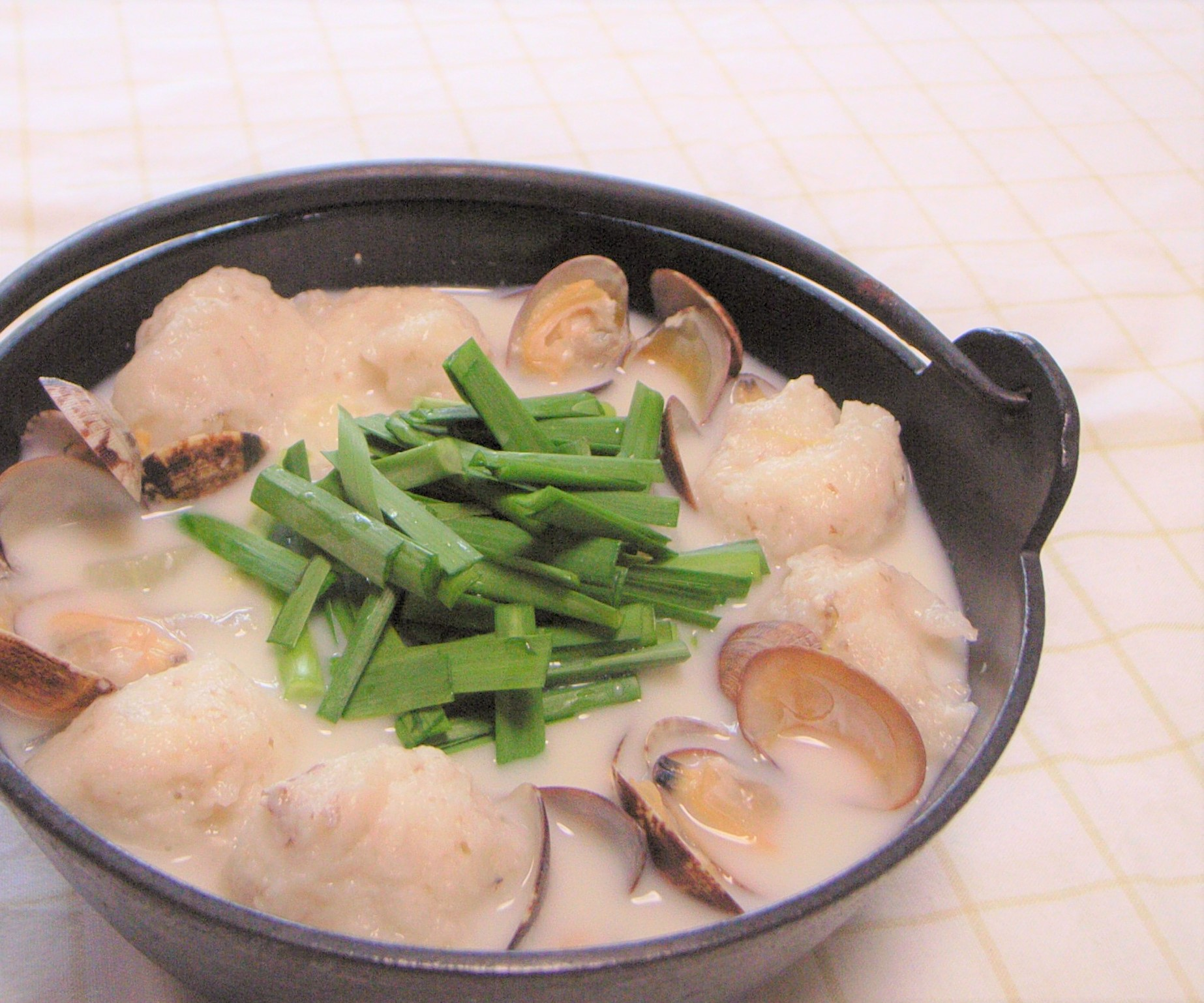 あさりの豆乳スープ煮